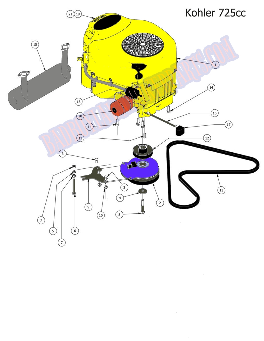 Bad Boy Mower Part 2014 Mz Magnum Kohler Engine 725cc Diagram Larger Photo