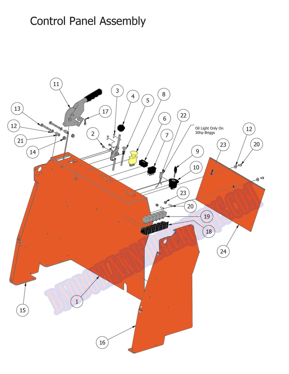 Bad Boy Mower Part 2014 Stand On Control Panel Assembly Mowers Wiring Diagram Larger Photo