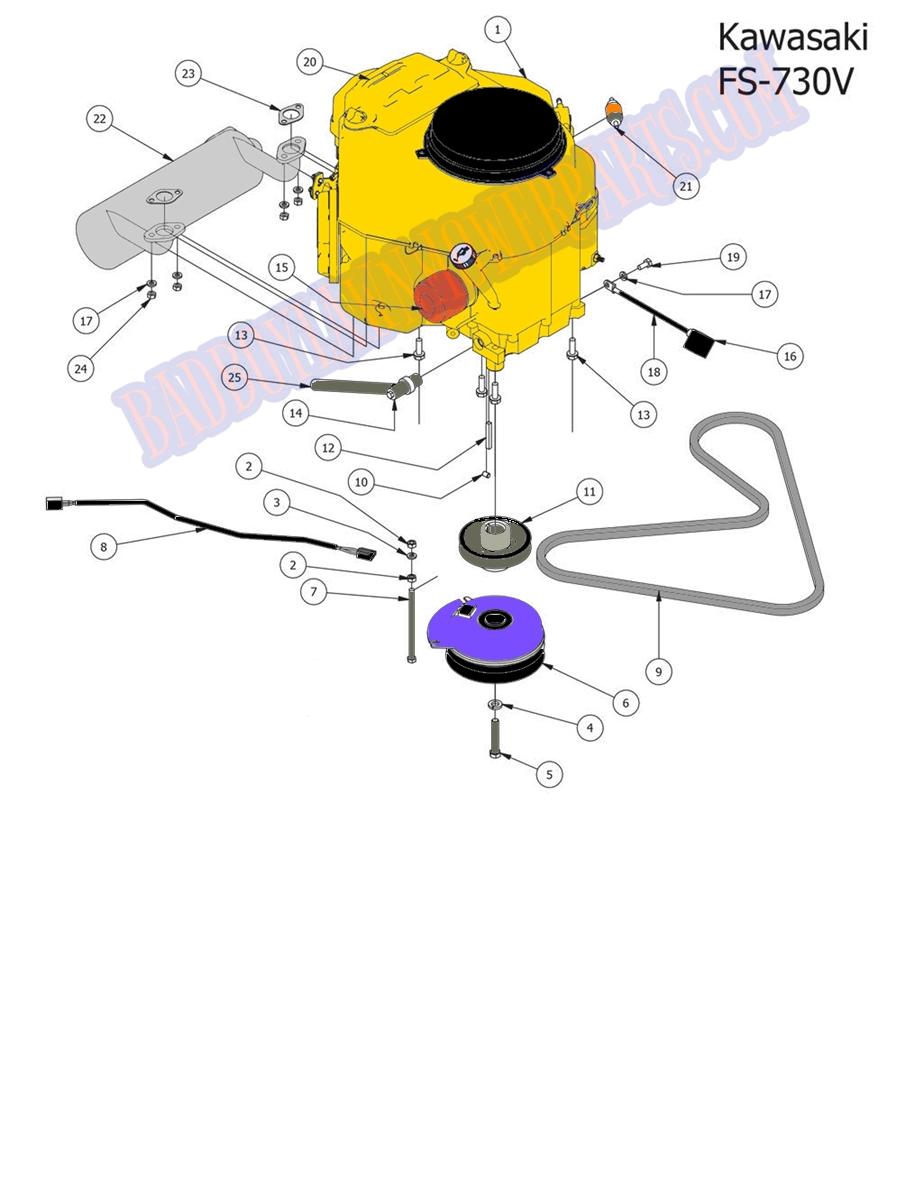 Bad Boy Mower Part 2014 Stand On Kawasaki Engine Fs 730v Mounting Diagrams Larger Photo