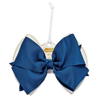 Girls' Navy Bow Clip Available at Little-minnows.com