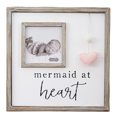 Frame 10x10 Mermaid at Heart available at Little-Minnows.com