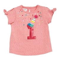 "Girls' ""One Derful"" Birthday T-Shirt"