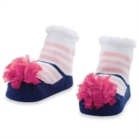 Light Pink Tulle Puff Socks at Little-Minnows.com