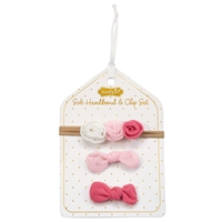 Mesh Flower Headband and Clip Set at Little-Minnows.com