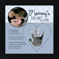 Mommy Handprint Frame 8x8 Heart and Me available at Little-Minnows.com
