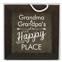 Our Happy Place Grandparent Sign 10x10 available at Little-Minnows.com