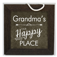Our Happy Place Grandma Sign 10x10 available at Little-Minnows.com