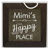 Our Happy Place Mimi Sign 10x10 available at Little-Minnows.com