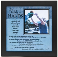 My Daddy's Hands Frame 8x8  available at Little-Minnows.com