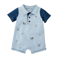 Golf Romper Shortall One-Piece Boys Outfit 10880001 Shortall One-Piece at Little-Minnows.com