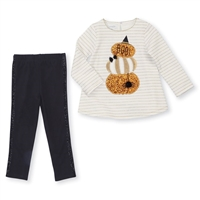 Glitter Pumpkin Tunic and Legging Set at www.little-minnows.com