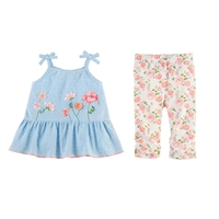Girls' Rosebud Tunic and Capri Set available at Little-Minnows.com