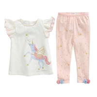 Girls' Unicorn Tunic and Legging Set at Little-Minnows.com