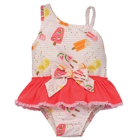 Girls Popsicle Print One-Piece Swimsuit  UPF 50+ available at Little-Minnows.com