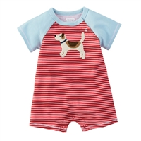 Puppy Shortall One Piece Boys Outfit, Shortall One-Piece at Little-Minnows.com