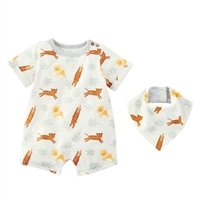Safari Shortall and Bib Set Boys Outfit, Shortall One-Piece at Little-Minnows.com