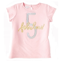 "Girls' ""Fabulous Five"" Birthday T-Shirt"