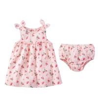 Girls' Tiny Rose Muslin Dress and Bloomer Set available at Little-Minnows.com