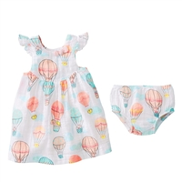Girls' Balloon Muslin Dress and Bloomer Set at Little-Minnows.com
