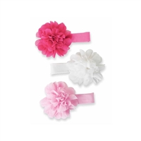 Girls' Ivory Chiffon Flower Headband Available at Little-minnows.com