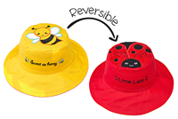 Sun Hat with Strap Reversible 2 in 1 and UPF 50++ Bee/Ladybug