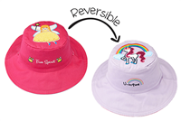 Sun Hat with Strap Reversible 2 in 1 and UPF 50++ Starfish/ Fish