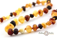 "Raw Olive Healing Amber 11"" Necklace"