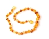 "Raw Duo Light Healing Amber 13"" Necklace"