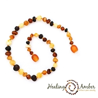 "Multi Circle Healing Amber 15"" Necklace"