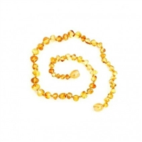 "Raw Liquid Gold Healing Amber 11"" Necklace"