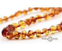 "Caramel Circle Healing Amber 15"" Necklace"