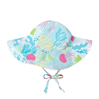 Baby & Child Sun Hat with Strap UPF Coral Reef Little-Minnows.com