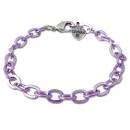 Charm Purple Chain Bracelet