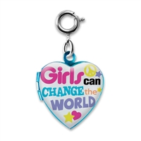 Charm Girls Can Change the World Locket