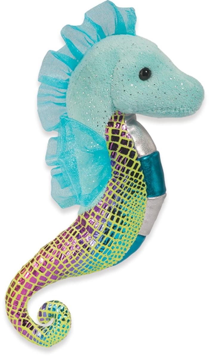 Sparkling Aqua and Green Seahorse Plush