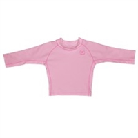 Pink Long Sleeve Rashguard UPF 50+ Available at www.little-minnows.com