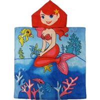 Kids Mermaid Hooded Towel