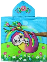 Kids Sloth Hooded Towel