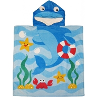 Kids Dolphin Hooded Towel