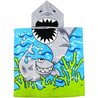 Kids Shark Hooded Towel