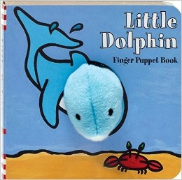 Little Dolphin Finger Puppet Board Book at Little-Minnows.com
