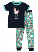 Childrens Unicorn I Believe.. Pajama Sleep Set Little-Minnows.com