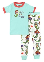 Mermaid Two Piece Pajama Set at Little-Minnows.com