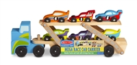 Wooden Mega Race Car Carrier Toy Set Available at www.little-minnows.com