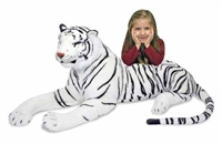 White Tiger Giant Stuffed Animal Available at Little-Minnows.com