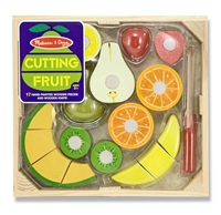 Wooden Cutting Fruit Play Food Set at Little-Minnows.com