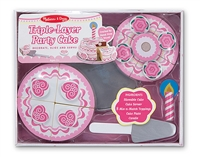 Wooden Triple-Layer Party Cake Play Food Set at Little-Minnows.com