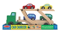 Car Carrier Truck & Cars Wooden Toy Set Available at www.little-minnows.com