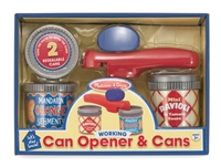 Can Opener and Cans Pretend Set at Little-Minnows.com