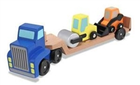 Low Loader Wooden Vehicles Play Set Available at www.little-minnows.com